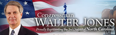 U.S. Rep. Walter Jones logo