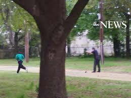 Walter Scott running and Michael Schlager firing April 2015