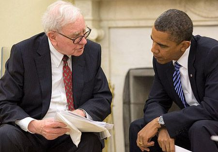 Warren Buffett with President Obama