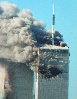 World Trade Center on 9/11 (Photo by Cliff1066 via DMCA)