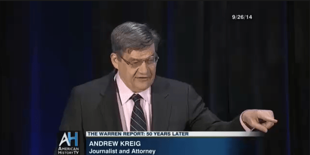 Andrew Kreig C-SPAN Warren Commission Conference Sept. 26, 2014