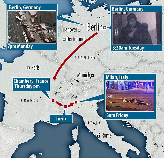 Terrorist Anis Amri movements (Chart by Zero Hedge)