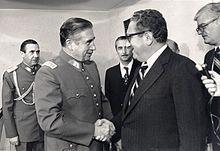 Chilean Gen. Augusto Pinochet and Secretary of State Henry Kissinger