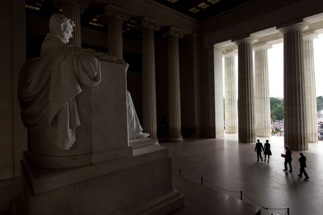 Barack Obama Lincoln Monument -Carter and Clinton 8_28-13.jpg
