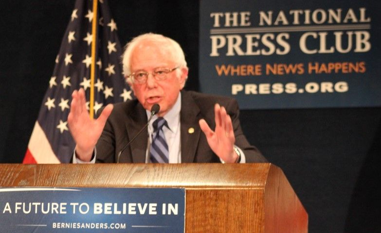 Bernie Sanders at National Press Club May 1, 2016. JIP Photo