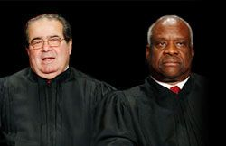 Antonin Scalia and Clarence Thomas