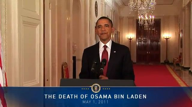President Obama announces death of Osama bin Laden, May 1, 2011