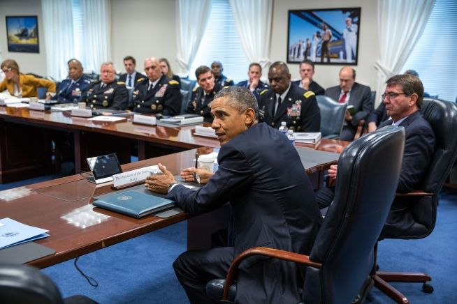 President Obama at Defense Department headquarters July 6, 2015