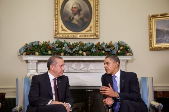 President Obama meets Turkey Prime Minister Recep Erdorgan Dec. 7, 2009
