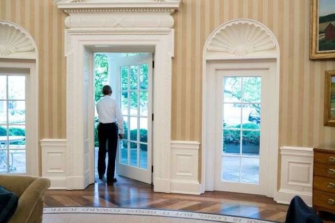 President Obama President Barack Obama walks out of the Oval Office to the White House Colonnade, May 19, 2016. (White House Photo by Pete Souza)