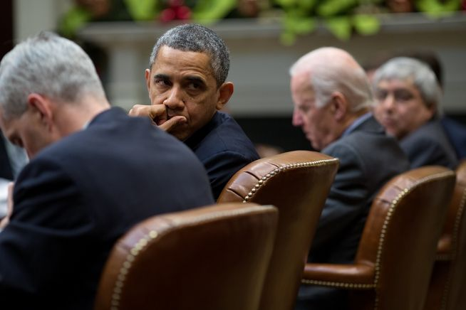 President Obama and Vice President Biden in Meeting Dec. 12, 2013