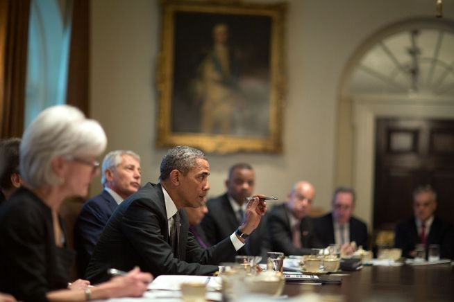 President Obama speaks at Cabinet meeting Jan. 14, 2014 (White House Photo)