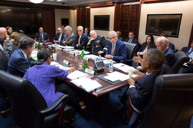 Barack Obama, Joe Biden and National Security Council Sept. 10, 2014