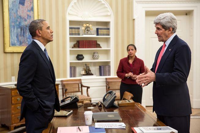 Barack Obama, John Kerry, Susan Rice, March 19, 2014