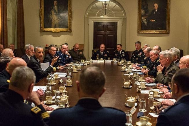 Barack Obama and Military Chiefs Nov. 12, 2013