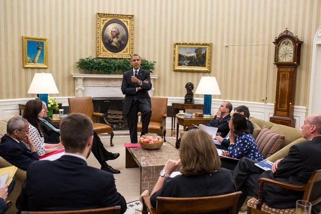 Barack Obama, Ben Rhodes, other senior advisors, May 27, 2014