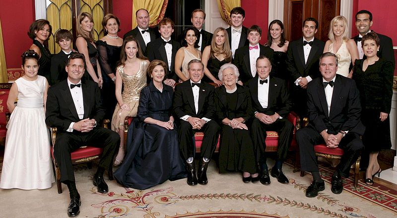 Bush Family 2005 at White House 60th Anniversary Wikimedia