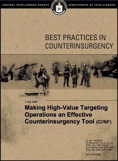 CIA Insurgency Best Practices Book (2009)