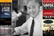 Dr. Cyril Wecht collage (WhoWhatWhy staff collage)