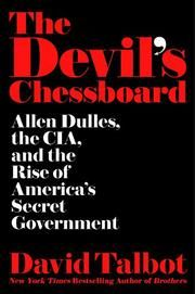 "David Talbot ""The Devil's Chessboard"" Dulles Book cover"