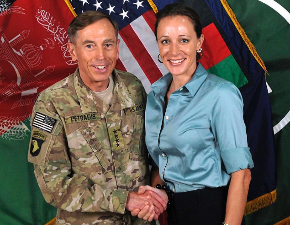 David Petraeus and Paula Broadwell July 2011 afghanistan