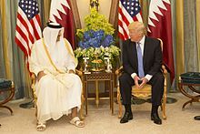 President Trump meets Qater Emir Tamim bin Hamad in May 2017.jpg