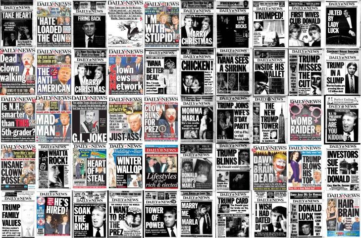 Donald Trump New York Daily News front pages