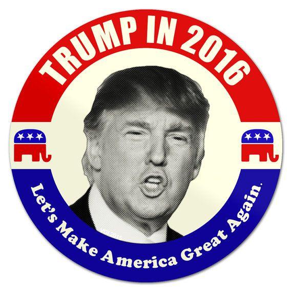 Donald Trump button open mouth