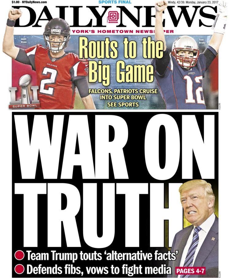 Donald Trump New York Daily News Jan. 21, 2017