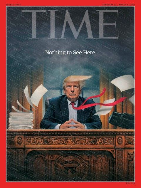 President Trump on Time Magazine's cover Feb. 27, 2017