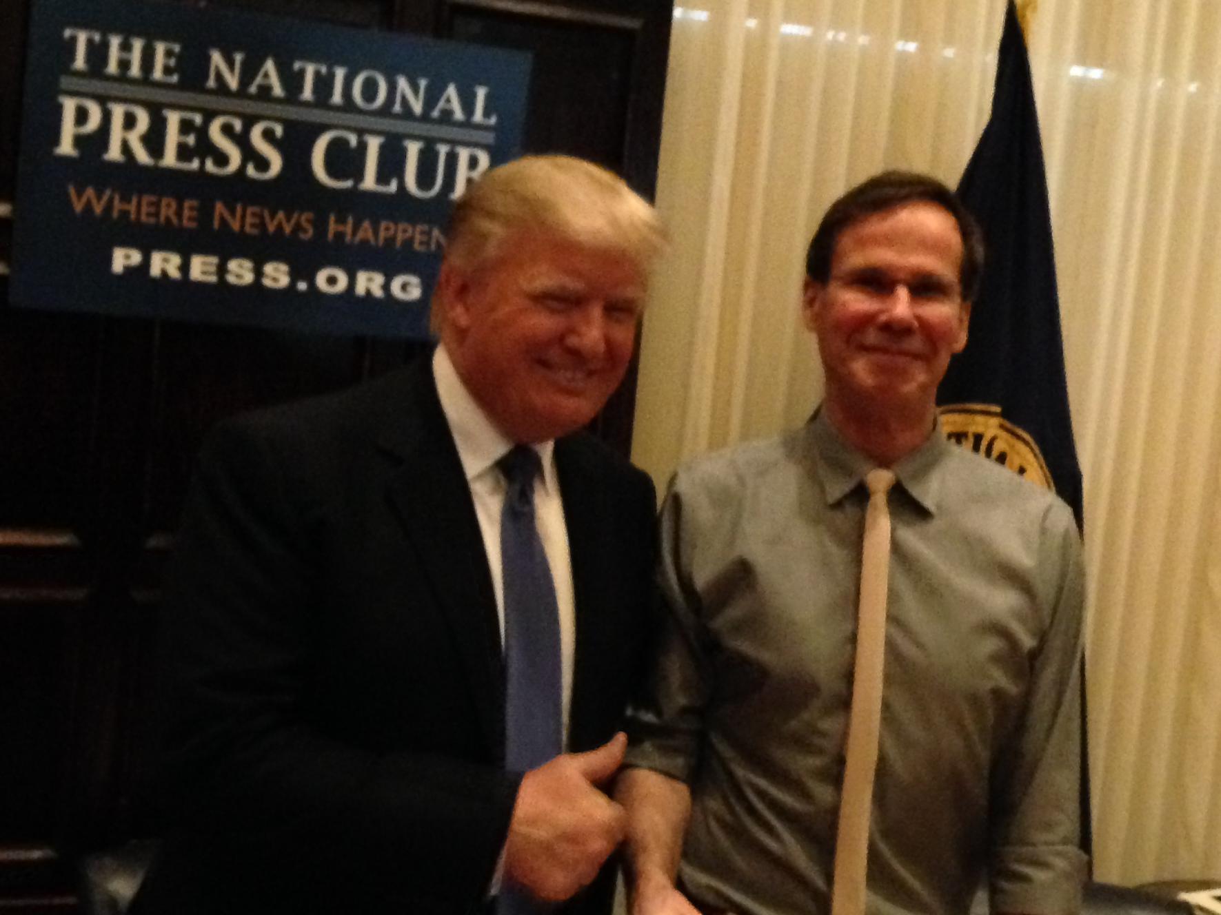 Donald Trump at National Press Club (Andrew Kreig Photo)