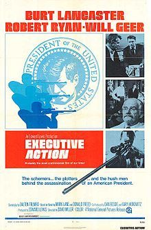 Executive Action Poster Burt Lancaster and Robert Ryan