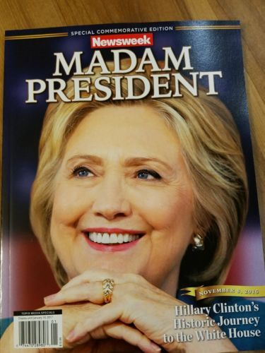 Hillary Clinton Madam President Newsweek cover