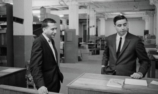David Belin and Howard Willens, Warren staffers, at TSBD in 1964