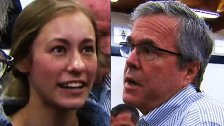 Ivy Ziedrich and Jeb Bush CNN