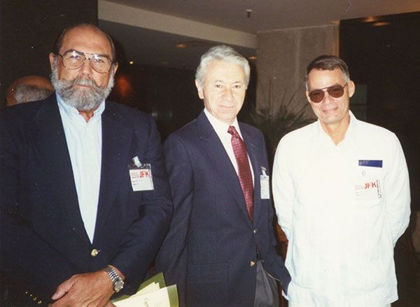 Amb. Wayne Smith, Gaeton Fonzi and Cuban Gen Fabian Escalante