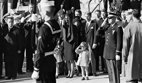 John F. Kennedy Jr. at father's funeral, Nov. 25, 1963 Stan Stearns UPI
