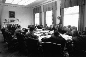 JFK Executive Committee Meeting, Cuban Missile Crisis, Oct. 29, 1962, Wikimedia Commons
