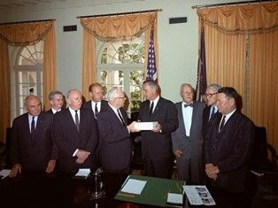 Warren Commission Presents Report to President Lyndon B. Johnson, 1964