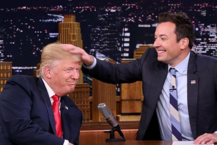 Jimmy Fallon and Donald Trump NBC Tonight Show Sept. 15, 2016