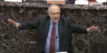 alan dershowitz senate hands out Custom