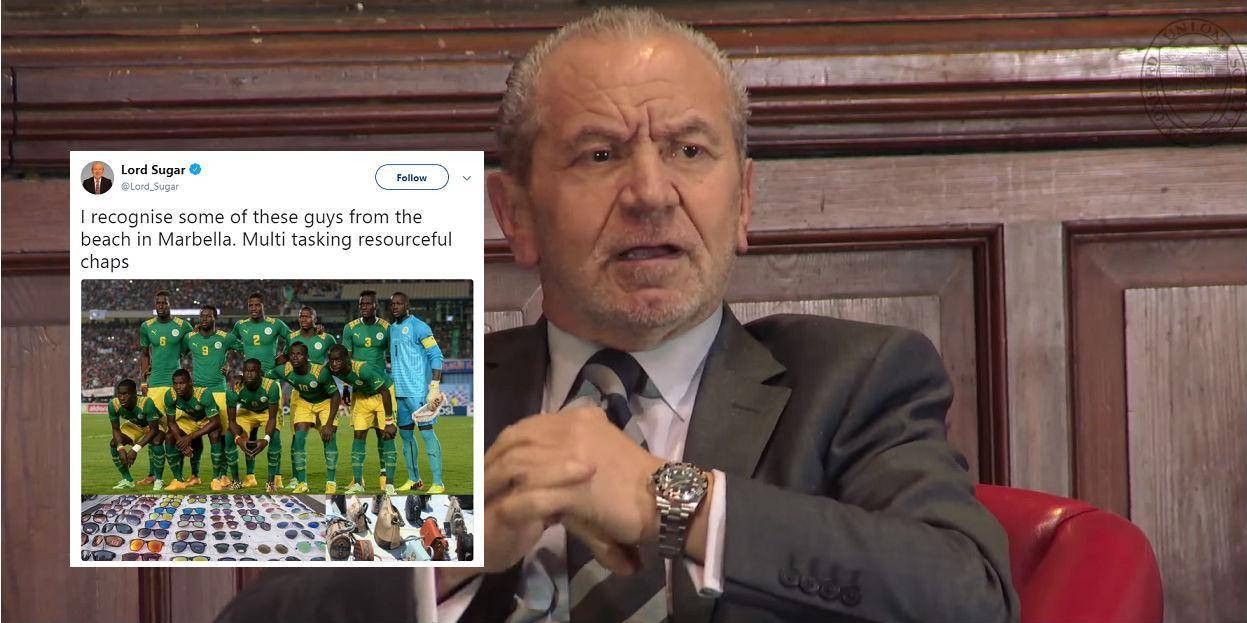 alan sugar senegal oxford union screenbrag twitter