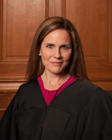 Amy Coney Barrett (2018 photo via Rachel Malehorn via Creative Commons and Wikimedia)
