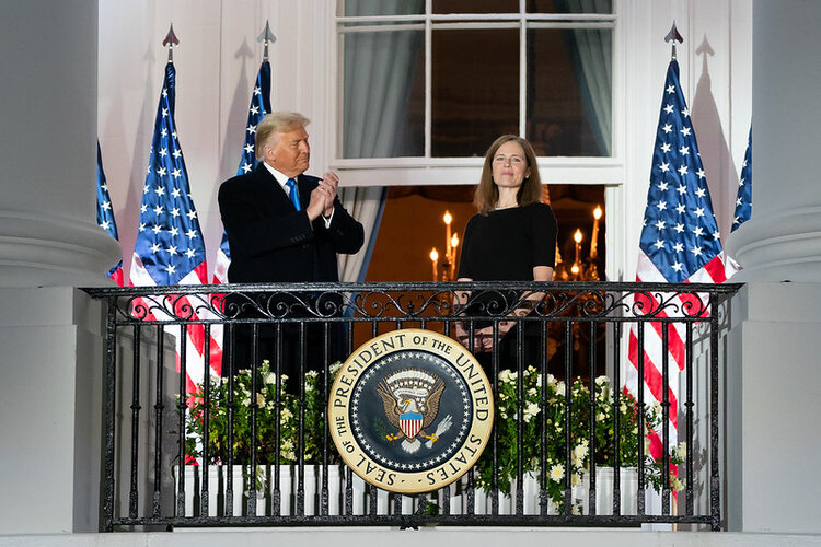 amy coney barrett djt white house swearing in