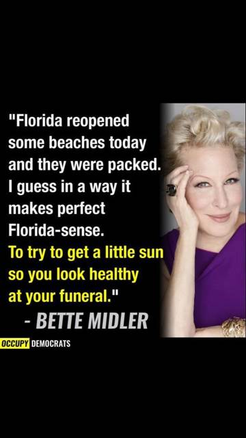 bette midler florida beaches occupy democrats