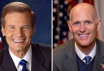 bill nelson rick scott collage