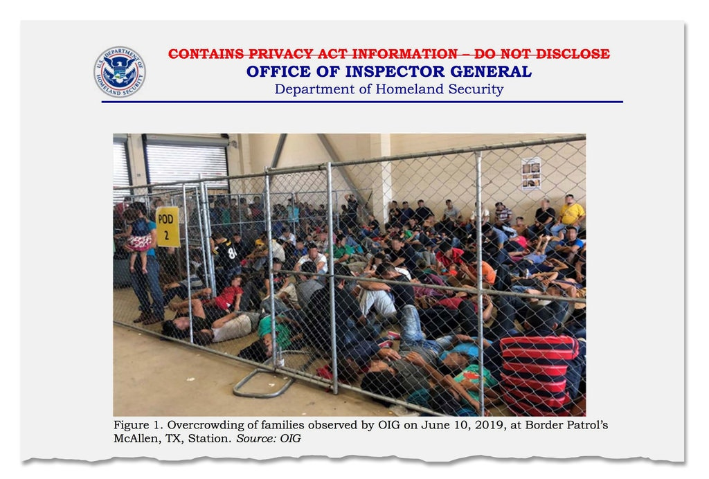 border inspector general report june 10 2019 scene in Mcallen