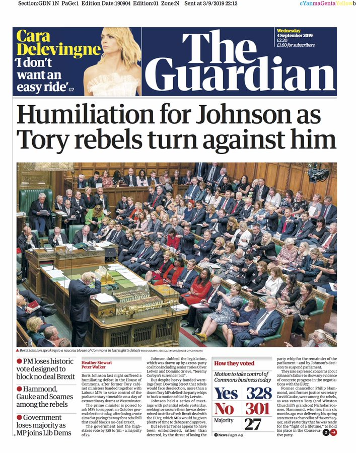 boris johnson brexit guardian sept 4 2019