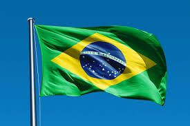 brazil flag waving