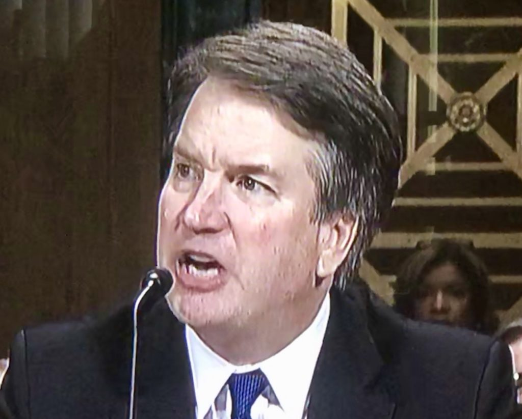 brett kavanaugh mouth open angry testimony